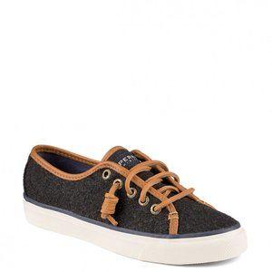 Sperry Seacoast Varsity Boat Shoes Graphite Gray